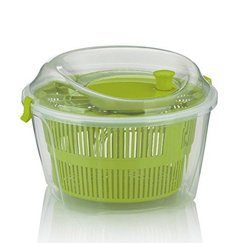 kela Slacentrifuge Mailin PP-kunststof groen 17,5 cm 24,5 cm Ø 4,4 l, 24,5 x 24,5 x 17,5 cm