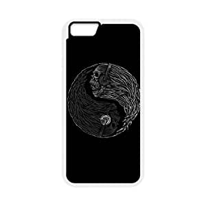 iPhone 6 Plus 5.5 Inch Cell Phone Case White Yin Yang Music Skulls SP4149482