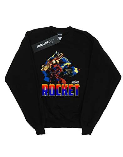 Avengers shirt Sweat Rocket War Infinity Noir Homme Character AvxAYz