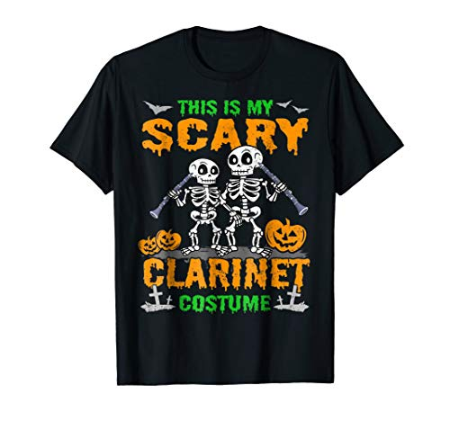 This Is My Scary Clarinet Costume T-Shirt Clarinetist