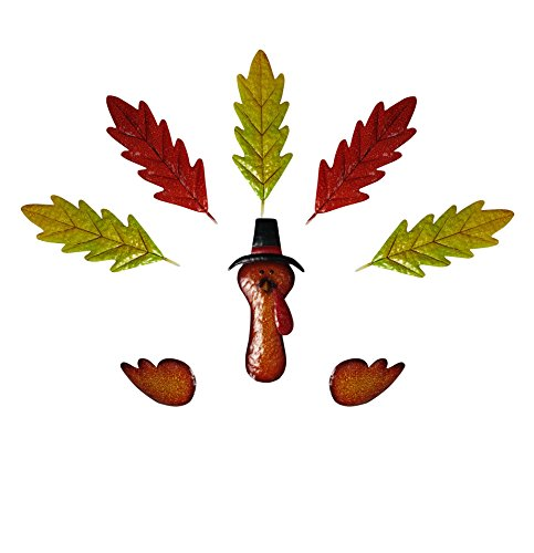 Alpine Corporation WQA276A Metal Pumpkin Leaf Turkey Kit (Pumpkin Not Included) - Turkey Pumpkin Kit