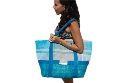 CGear Sand-Free Tote Bag (15 x 17 x 7.5-Inch, Blue Plaid), Bags Central