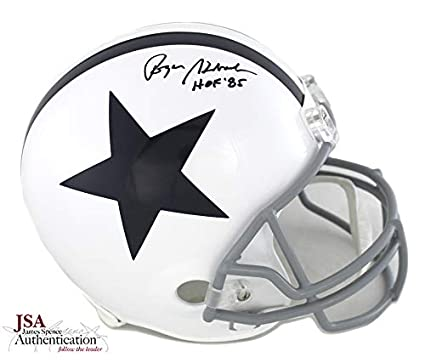 """bde9ee2c17d Roger Staubach Autographed/Signed Dallas Cowboys Full Size NFL Throwback  Thanksgiving Helmet With""""HOF"""