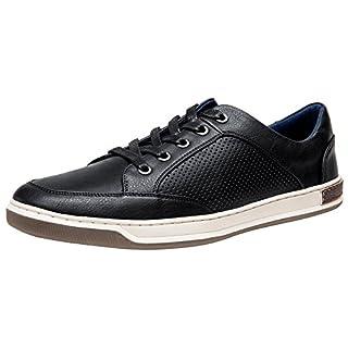 JOUSEN Men's Sneakers Black Casual Shoes for Men Breathable Business Dress Sneaker (9,Black)