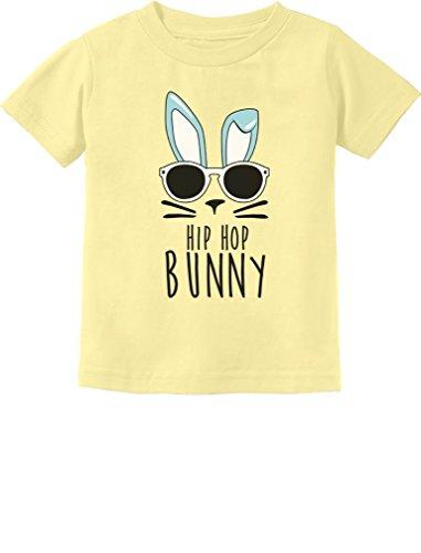 TeeStars - Hip Hop Bunny Funny Gift for Easter Toddler/Infant Kids T-Shirt 4T Banana (Easter Bunny Yellow T-shirt)