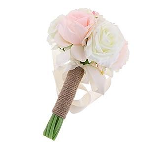 MonkeyJack Artificial Flower Bridesmaids Bride Bouquet Wedding Party Garden Decoration 45