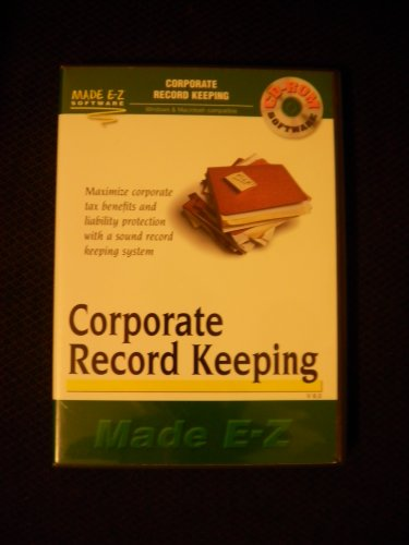 - Corporate Record Keeping Made E-Z CD-ROM Software