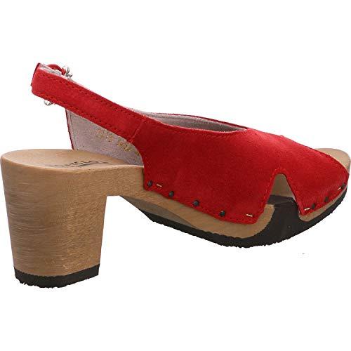 Sandalias Para De Softclox Vestir Mujer Rojo 6qCnfFWd