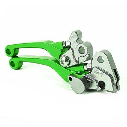 TOPHOME Brake Clutch Levers Set For Kawasaki KX125 2006-2008,KX250 2005-2008,KX250F 2005-2012,KX450F 2006-2012 Green