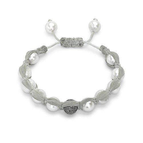 Samira 13 Bracelet Acier Inoxydable Ronde Diamant Femme