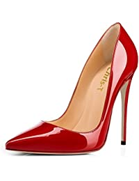 Womens Pointy Toe High Heels Slip On Stilettos Large Size...