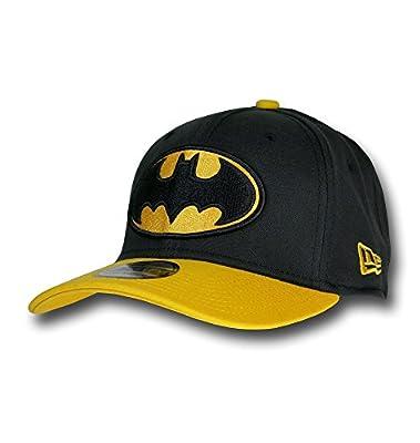 Batman Logo Black & Yellow 39Thirty New Era Cap