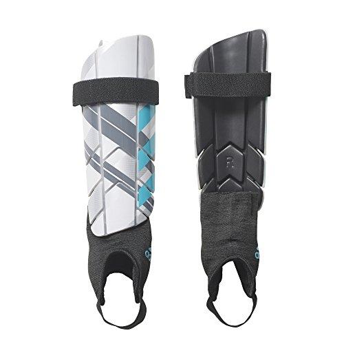 - adidas Performance Ghost Reflex Shin Guards, Silver Metallic/Clear Onix/Energy Blue, Small