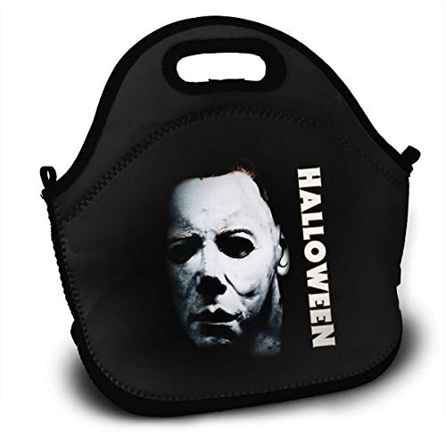 (Sunmoonet Lunch Bags Halloween Michael Myers Bento Lunch Bag Backpack Hot Lunch Bags for)