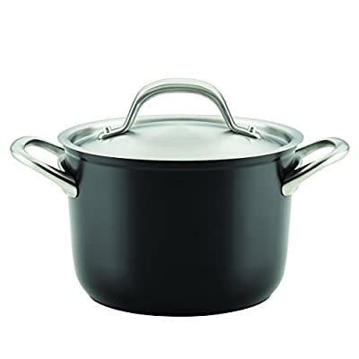 Circulon 10857 3 quart Ultimum Forged Aluminum Nonstick Covered Saucepot, Medium, Black