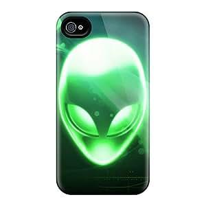 Bumper Hard Phone Cases For Iphone 4/4s (qKa5814uoXD) Unique Design HD Alienware Pictures
