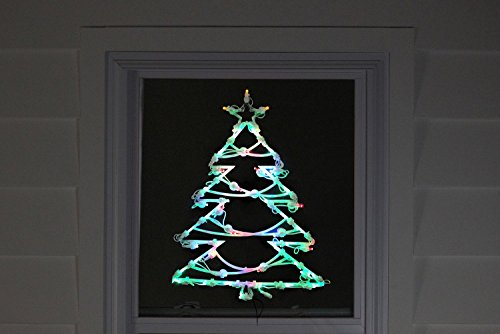 Northlight 18'' LED Lighted Tree Double Sided Christmas Window Silhouette Decoration by Northlight (Image #3)