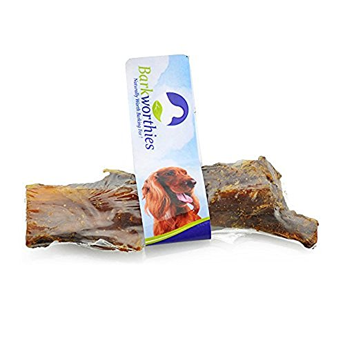 Barkworthies Beef Back Strap for Pets (4 Pack)