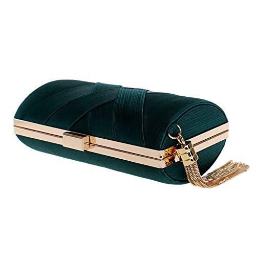 couleur Pochette Or Mariage Vert De Soie Soirée D'embrayage En Robe Enveloppe Sac 6zrwqH6