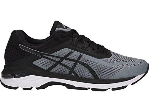 ASICS Men's GT-2000 6 Running Shoes, 12XW, Stone Grey/Black/White
