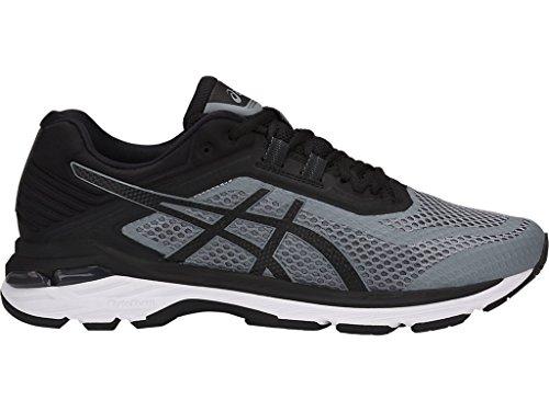 - ASICS Men's GT-2000 6 Running Shoes, 9.5XW, Stone Grey/Black/White