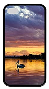 iPhone 4 4s Case, iPhone 4 4s Cases - Pelican animals TPU Polycarbonate Hard Case Back Cover for iPhone 4 4s¨CBlack