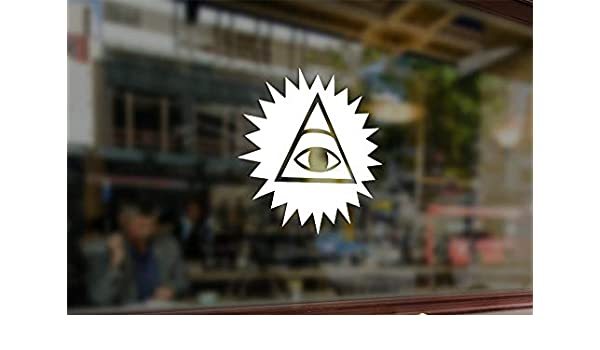 Illuminati Pyramid Eye of Providence Vinyl Car Window Helmet Laptop Sticker Hot