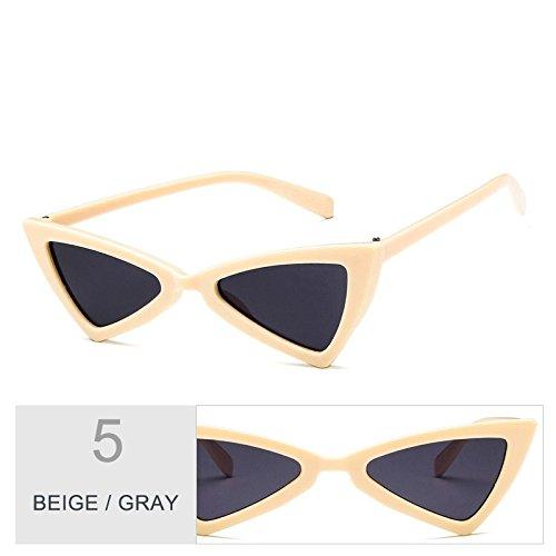 De Atrás Ojo Mujer Gris BEIGE Gafas Negro De Señor Vintage Sol De Gato Gafas GRAY Gafas Sol Uv400 TIANLIANG04 De Mujeres Blanco Del Uag7qt