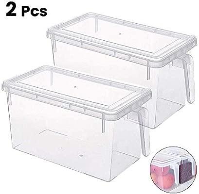 Luyao - 2 cajas de almacenamiento de plástico transparente ...