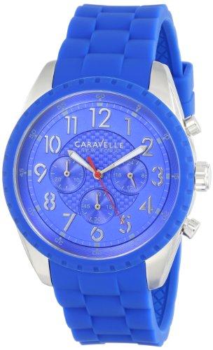 Caravelle New York Men's 43A121 Analog Display Japanese Quartz Blue Watch - Caravelle Blue Watch