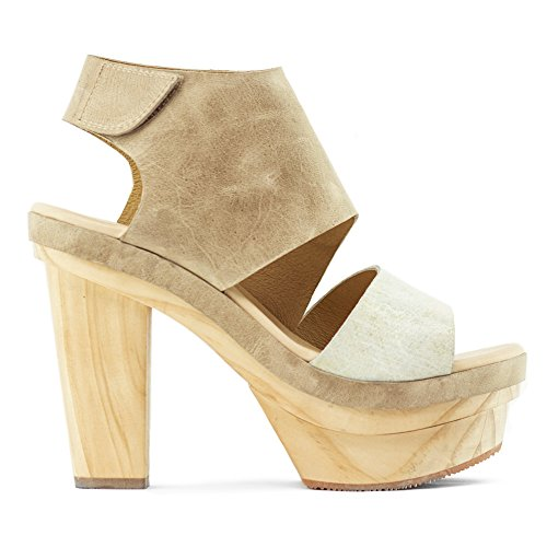 Koolaburra Winona Trä Plattform Sandal, Svart Sand Läder