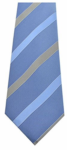 Tasso Elba Men's Ribbon Stripe Neck Tie Blue