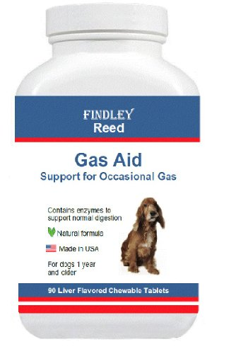 Digestion and Gas Aid for Dogs (100% Natural) by Findley Reed - 90 Tablets