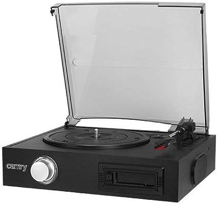 Camry CR1154 - Tocadiscos con Casete, Color Negro: Amazon.es ...