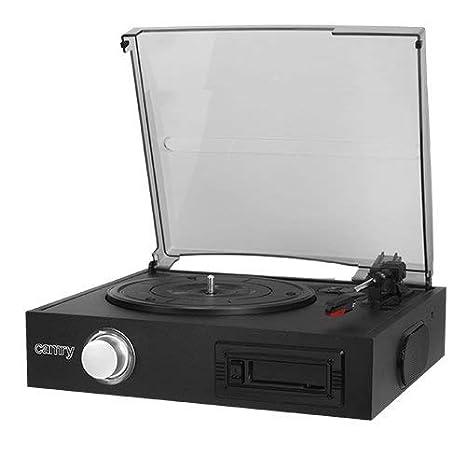 Camry CR1154 - Tocadiscos de Vinilo Vintage, Cassette, Altavoz ...