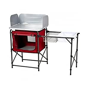 Amazon Com Ozark Trail Deluxe Camp Grill And Sink Table