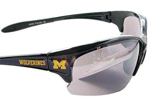 Sports Accessory Store Michigan Wolverines Black Blue Mens Women's Licensed Sunglasses UM ()