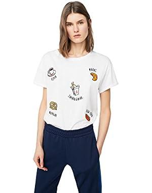 Mango Women's Decorative Patches T-Shirt