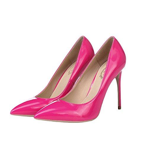 Mariage Noir Femmes 5 Talons 39 Discothèque Hauteur Red Travail Hauts De Chaussures UK Chaussures 10cm Mode pour Court 12CM 6 avec EU Sexy Femme davqgd