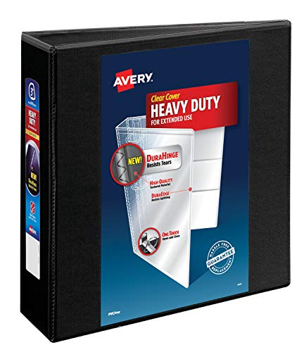- Avery Nonstick Heavy-Duty EZD Reference View 3 Inch Black Binder (79693)