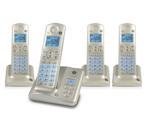 Ge Phone Answering Machine (GE DECT 6.0 Four Handset Caller ID Speakerphone with Digital Answering System, Pearl White (28522AE4))