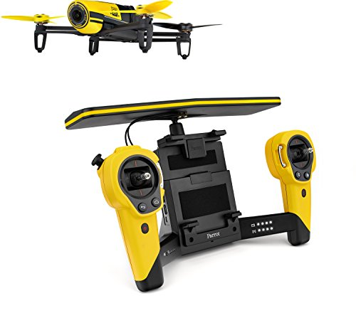 Parrot Bebop Quadcopter Drone with Sky Controller Bundle (Yellow)