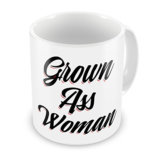 - Coffee Mug Vintage Lettering Grown Ass Woman - NEONBLOND