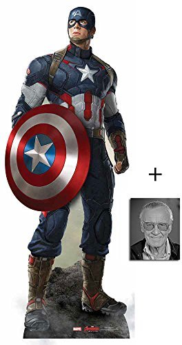 Fan Pack - Captain America (Chris Evans) Avengers Age of Ultron Marvel Lifesize Cardboard 2D Standup / Cutout Plus 20x25cm Photo by BundleZ-4-FanZ Fan Packs by Starstills