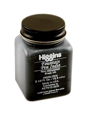 Higgins Fountain Pen Black Ink 2.5oz