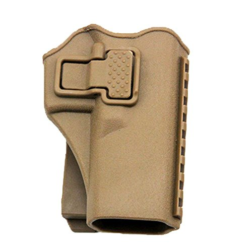 quanlei Tactical Right Hand Waist Gun Holster,MOLLE Vest Pistol Holster for Glock 17 19 22 23 31 (Tan, Vest)