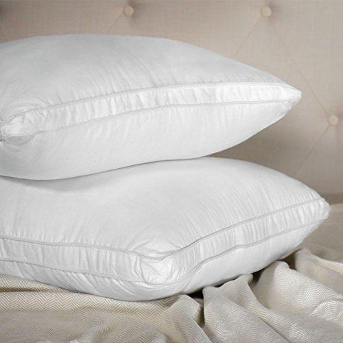 Living Fresh Luxury Hotel Pillows - Pillow Inserts - Pillow Gusset - Firm, Standard - Side Sleeping Pillow or Stomach Sleeper Pillow - Breathable, Plush, Botanical Fiberfill