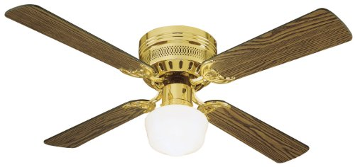 "Design House 156588 Millbridge 1 Light Ceiling Fan 42"", Polished Brass"