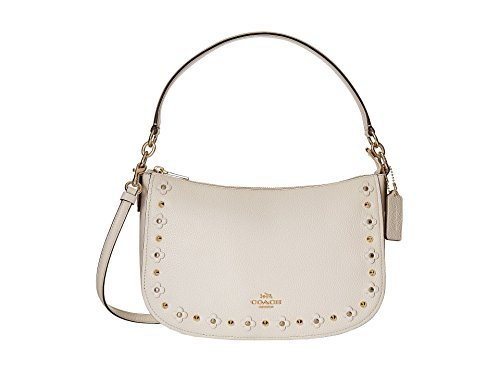 Floral Rivets Detail Chelsea Shoulder Bag