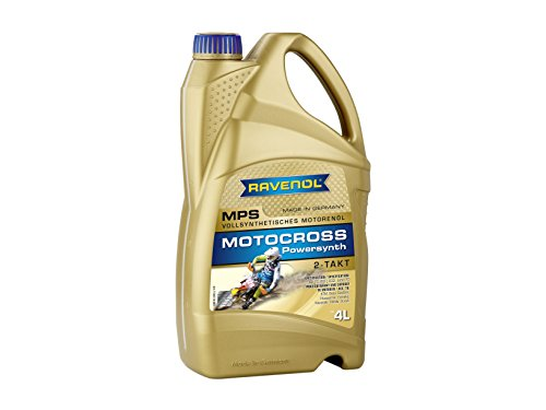 RAVENOL J1V1100-004 2-Stroke Motorcycle Oil - MPS Motocross Powersynth Full Synthetic API TC (4 Liter)